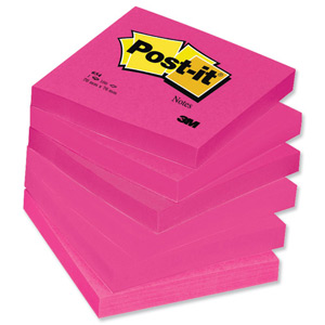 324866 Post It Colour Notes Pad Of 100 Sheets 76x76mm Energetic